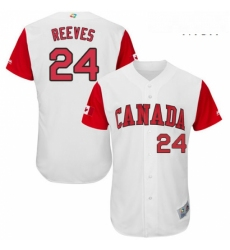 Mens Canada Baseball Majestic 24 Mike Reeves White 2017 World Baseball Classic Authentic Team Jersey