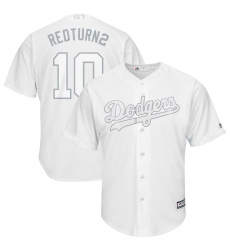 Dodgers 10 Justin Turner RedTurn2 White 2019 Players Weekend Player Jersey