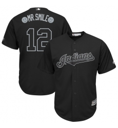 Indians 12 Francisco Lindor Black 2019 Players Weekend Player Jersey