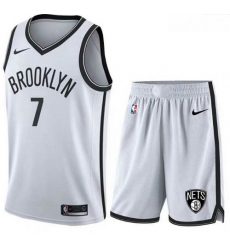 Nets 7 Kevin Durant White Nike Swingman Jersey 28With Shorts