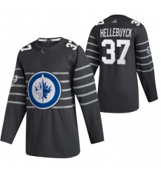 Jets 37 Connor Hellebuyck Gray 2020 NHL All Star Game Adidas Jersey