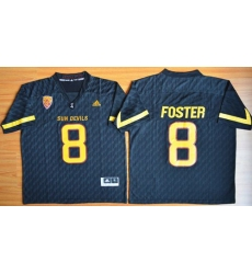 Sun Devils #8 D  J  Foster New Black Stitched NCAA Basketball Jersey