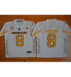 Sun Devils #8 D  J  Foster New White Stitched NCAA Basketball Jersey