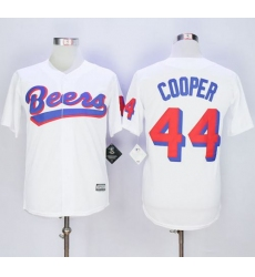 Beers Movie #44 Joe Cooper White Stitched Basketball Jersey
