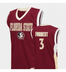 Men Florida State Seminoles Trent Forrest Red Fadeaway College Basketball Jersey