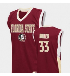 Men Florida State Seminoles Will Miles Red Fadeaway College Basketball Jersey