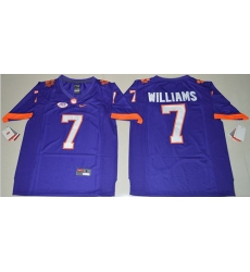 Tigers #7 Mike Williams Purple Limited Stitched NCAA Jersey