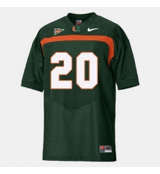 Men Miami Hurricanes Ed Reed College Football Green Jersey