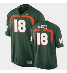 Men Miami Hurricanes Tate Martell Game Green College Football Jersey