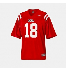 Men Ole Miss Rebels Archie Manning College Football Red Jersey