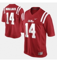 Men Ole Miss Rebels Bo Wallace College Football Red Jersey