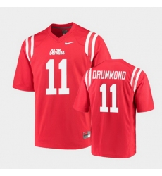 Men Ole Miss Rebels Dontario Drummond College Football Red Game Jersey