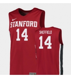 Men Stanford Cardinal Marcus Sheffield Red Replica College Basketball Jersey
