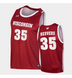 Men Wisconsin Badgers Nate Reuvers Replica Red College Basketball Jersey