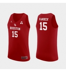 Men Houston Cougars Neil Vanbeck Red Replica College Basketball Jersey