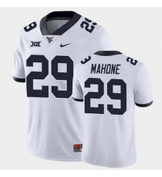 Men West Virginia Mountaineers Sean Mahone Game White College Football Jersey