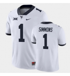 Men West Virginia Mountaineers T.J. Simmons Game White College Football Jersey