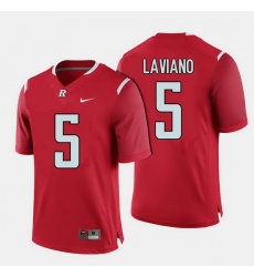 Men Rutgers Scarlet Knights Chris Laviano College Football Red Jersey