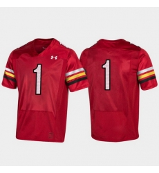 Men Maryland Terrapins 1 Red 150Th Anniversary College Football Jersey