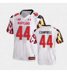 Men Maryland Terrapins Chance Campbell College Football White Game Jersey