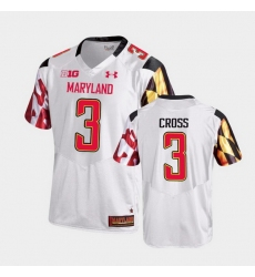 Men Maryland Terrapins Nick Cross College Football White Game Jersey