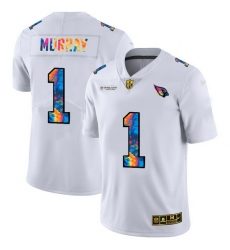 Arizona Cardinals 1 Kyler Murray Men White Nike Multi Color 2020 NFL Crucial Catch Limited NFL Jersey