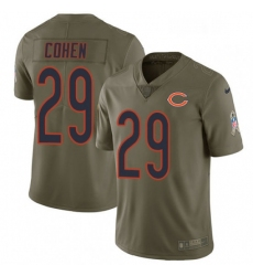 Mens Nike Chicago Bears 29 Tarik Cohen Limited Olive 2017 Salute to Service NFL Jersey