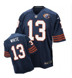 Nike Bears #13 Kevin White Navy Blue Throwback Mens Stitched NFL Elite Jersey