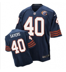 Nike Bears #40 Gale Sayers Navy Blue Throwback Mens Stitched NFL Elite Jersey