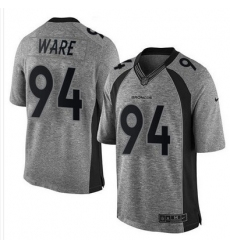 Nike Broncos #94 DeMarcus Ware Gray Mens Stitched NFL Limited Gridiron Gray Jersey