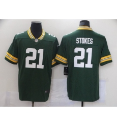 Men Nike Green Bay Packers Eric Stokes 21 Green 2021 Vapor Limited Jersey