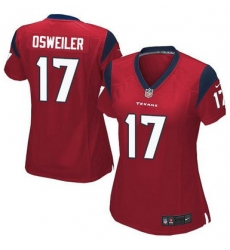 Nike Texans #17 Brock Osweiler Red Alternate Womens Stitched NFL Elite Jersey