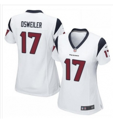 Nike Texans #17 Brock Osweiler White Womens Stitched NFL Elite Jersey