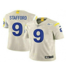 Men Los Angeles Rams 9 Matthew Stafford Cream 2021 NEW Vapor Untouchable Stitched NFL Nike Limited Jersey
