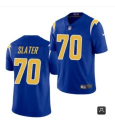 Men Los Angeles Chargers #70 Rashawn Slater Royal 2021 Vapor Untouchable Limited Stitched NFL Jersey
