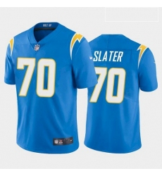 Men Los Angeles Chargers Rashawn Slater White Blue 2021 Draft Jersey