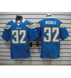 Nike San Diego Chargers 32 Eric Weddle Light blue Elite NFL Jersey