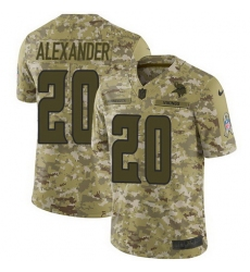 Nike Vikings #20 Mackensie Alexander Camo Mens Stitched NFL Limited 2018 Salute To Service Jersey