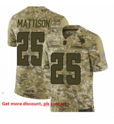 Vikings 25 Alexander Mattison Camo Men Stitched Football Limited 2018 Salute To Service Jersey