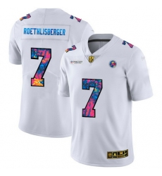 Pittsburgh Steelers 7 Ben Roethlisberger Men White Nike Multi Color 2020 NFL Crucial Catch Limited NFL Jersey