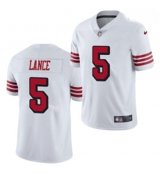 Youth San Francisco 49ers #5 Trey Lance Jersey White 2021 Color Rush Limited