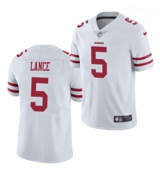 Youth San Francisco 49ers #5 Trey Lance Jersey White 2021 Limited Football
