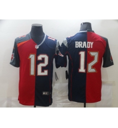 Men Nike Tampa Bay Buccaneers  26 New England Patriots 12 Tom Brady Men Red Navy Blue Limited NFL 2020 2021 Jersey