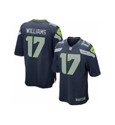 Nike Seattle Seahawks 17 Mike Williams Blue Game NFL Jersey