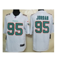 Nike Miami Dolphins 95 Dion Jordan White Limited NFL Jersey