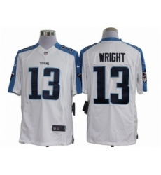 Nike Tennessee Titans 13 Kendall Wright White Limited NFL Jersey