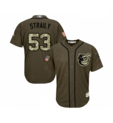 Mens Baltimore Orioles 53 Dan Straily Grey Road Flex Base Authentic Collection Baseball Jersey