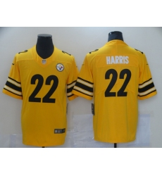 Men Pittsburgh Steelres Najee Harris 22 Yellow Limited Stitched NFL Jersey