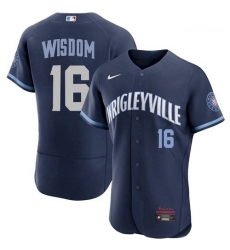 Youth Patrick Wisdom Cubs Wrigleyville Jersey City Connect Stitche