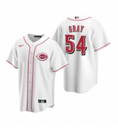 Mens Nike Cincinnati Reds 54 Sonny Gray White Home Stitched Baseball Jersey
